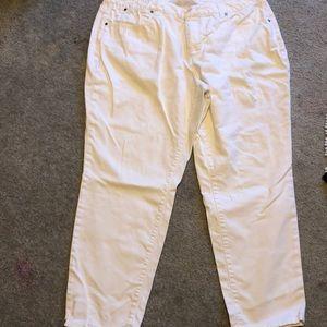 Talbots White Plus jeans Curvy Ankle size 18W